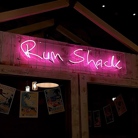 Rum Shack Neon lighting Camberley