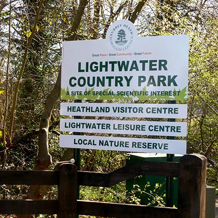 Lightwater sign
