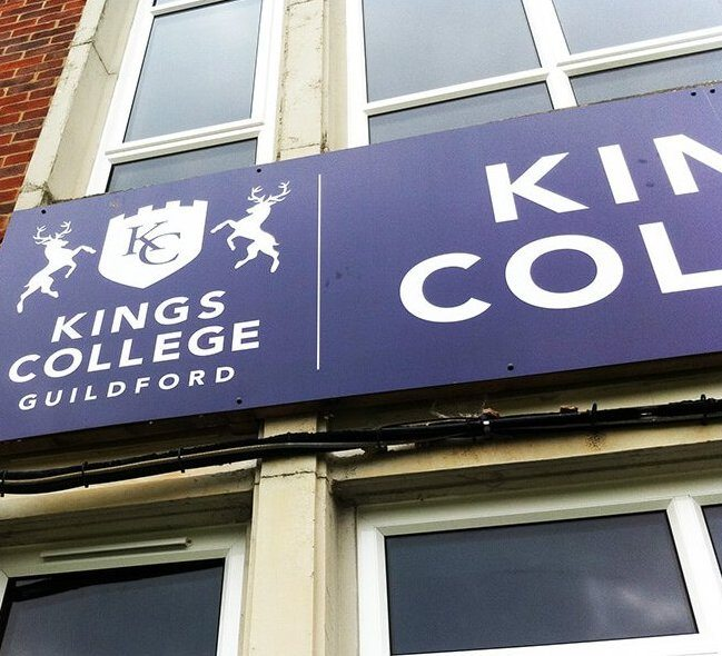 Kings College Guildford sign